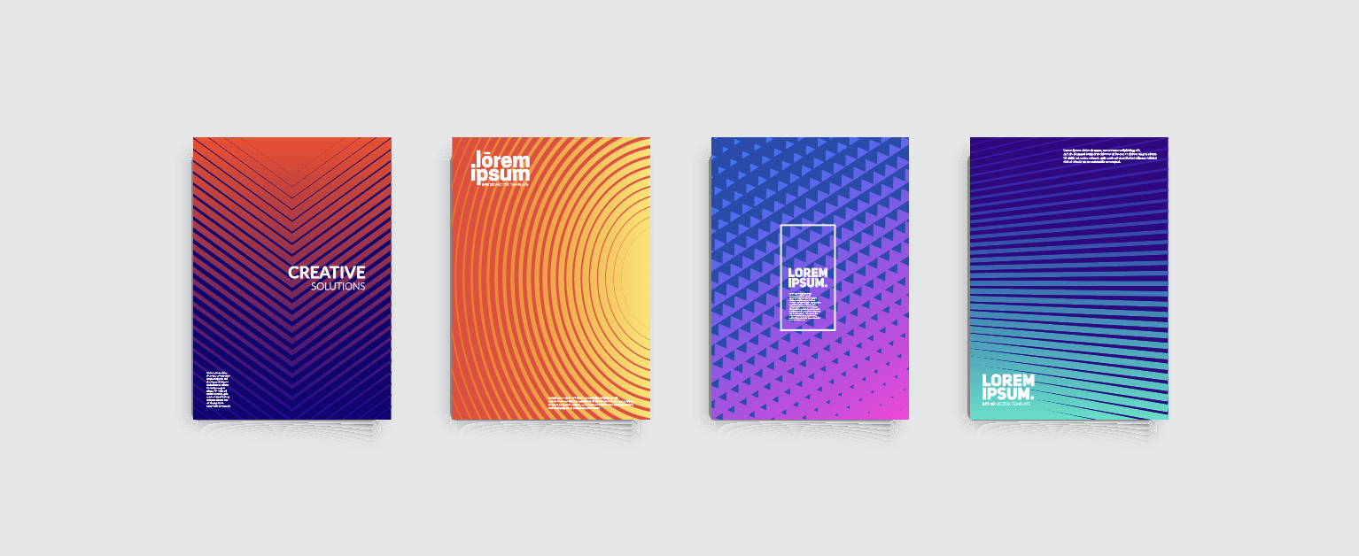 Graphic design, colors, gradient